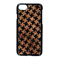 Houndstooth2 Black Marble & Brown Stone Apple Iphone 7 Seamless Case (black) by trendistuff