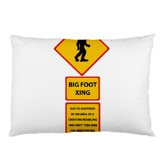 Bigfoot Pillow Case (two Sides) by Valentinaart