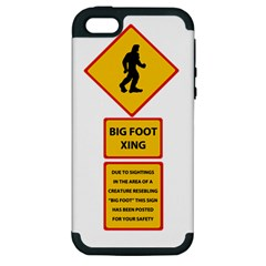 Bigfoot Apple Iphone 5 Hardshell Case (pc+silicone) by Valentinaart