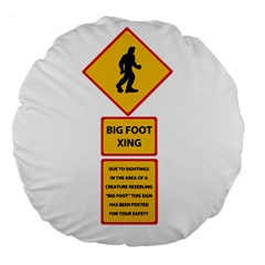 Bigfoot Large 18  Premium Flano Round Cushions by Valentinaart