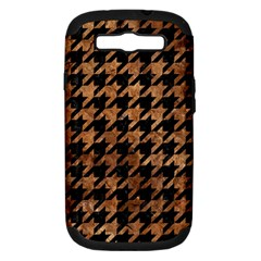 Houndstooth1 Black Marble & Brown Stone Samsung Galaxy S Iii Hardshell Case (pc+silicone) by trendistuff