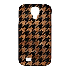 Houndstooth1 Black Marble & Brown Stone Samsung Galaxy S4 Classic Hardshell Case (pc+silicone) by trendistuff