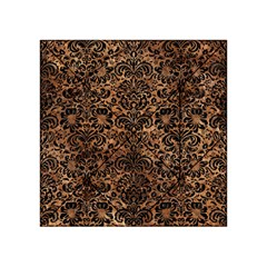 Damask2 Black Marble & Brown Stone (r) Acrylic Tangram Puzzle (4  X 4 )