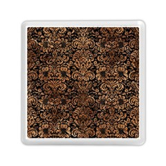 Damask2 Black Marble & Brown Stone Memory Card Reader (square) by trendistuff