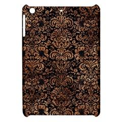 Damask2 Black Marble & Brown Stone Apple Ipad Mini Hardshell Case by trendistuff