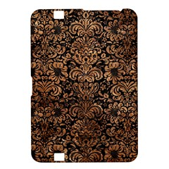 Damask2 Black Marble & Brown Stone Kindle Fire Hd 8 9  Hardshell Case by trendistuff