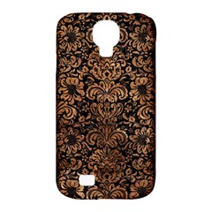 Damask2 Black Marble & Brown Stone Samsung Galaxy S4 Classic Hardshell Case (pc+silicone) by trendistuff