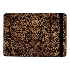 Damask2 Black Marble & Brown Stone Samsung Galaxy Tab Pro 10 1  Flip Case by trendistuff