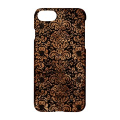 Damask2 Black Marble & Brown Stone Apple Iphone 7 Hardshell Case by trendistuff