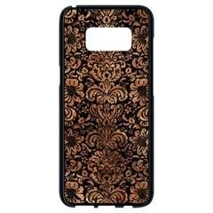 Damask2 Black Marble & Brown Stone Samsung Galaxy S8 Black Seamless Case by trendistuff