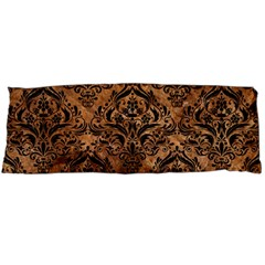 Damask1 Black Marble & Brown Stone (r) Body Pillow Case Dakimakura (two Sides) by trendistuff