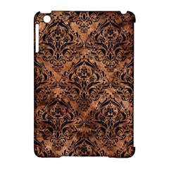 Damask1 Black Marble & Brown Stone (r) Apple Ipad Mini Hardshell Case (compatible With Smart Cover) by trendistuff