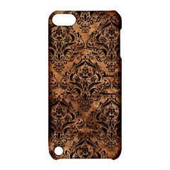 Damask1 Black Marble & Brown Stone (r) Apple Ipod Touch 5 Hardshell Case With Stand by trendistuff