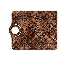 Damask1 Black Marble & Brown Stone (r) Kindle Fire Hdx 8 9  Flip 360 Case by trendistuff