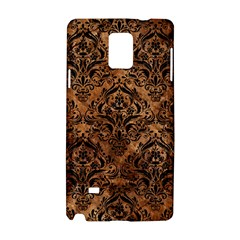 Damask1 Black Marble & Brown Stone (r) Samsung Galaxy Note 4 Hardshell Case by trendistuff
