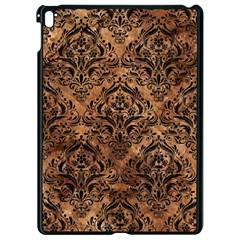 Damask1 Black Marble & Brown Stone (r) Apple Ipad Pro 9 7   Black Seamless Case by trendistuff