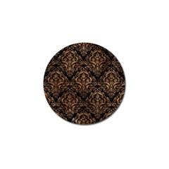 Damask1 Black Marble & Brown Stone Golf Ball Marker (10 Pack) by trendistuff