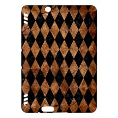 Diamond1 Black Marble & Brown Stone Kindle Fire Hdx Hardshell Case by trendistuff