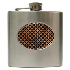 Circles3 Black Marble & Brown Stone (r) Hip Flask (6 Oz) by trendistuff