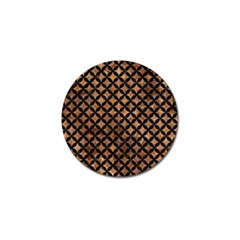 Circles3 Black Marble & Brown Stone (r) Golf Ball Marker (4 Pack) by trendistuff