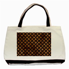 Circles3 Black Marble & Brown Stone (r) Basic Tote Bag by trendistuff