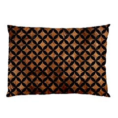 Circles3 Black Marble & Brown Stone (r) Pillow Case by trendistuff