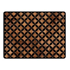 Circles3 Black Marble & Brown Stone (r) Fleece Blanket (small) by trendistuff