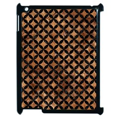 Circles3 Black Marble & Brown Stone (r) Apple Ipad 2 Case (black) by trendistuff