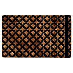 Circles3 Black Marble & Brown Stone (r) Apple Ipad 2 Flip Case by trendistuff