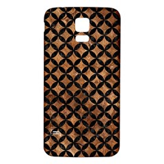 Circles3 Black Marble & Brown Stone (r) Samsung Galaxy S5 Back Case (white)