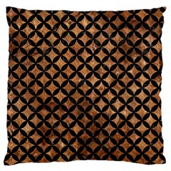 Circles3 Black Marble & Brown Stone (r) Large Flano Cushion Case (two Sides) by trendistuff
