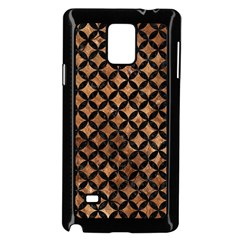 Circles3 Black Marble & Brown Stone (r) Samsung Galaxy Note 4 Case (black) by trendistuff