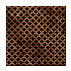 Circles3 Black Marble & Brown Stone Tile Coaster by trendistuff