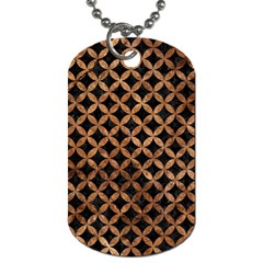 Circles3 Black Marble & Brown Stone Dog Tag (one Side) by trendistuff