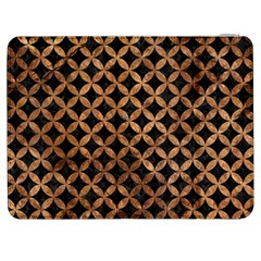 Circles3 Black Marble & Brown Stone Samsung Galaxy Tab 7  P1000 Flip Case by trendistuff