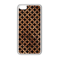 Circles3 Black Marble & Brown Stone Apple Iphone 5c Seamless Case (white) by trendistuff
