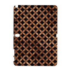 Circles3 Black Marble & Brown Stone Samsung Galaxy Note 10 1 (p600) Hardshell Case by trendistuff