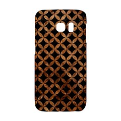 Circles3 Black Marble & Brown Stone Samsung Galaxy S6 Edge Hardshell Case by trendistuff