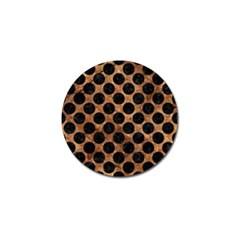 Circles2 Black Marble & Brown Stone (r) Golf Ball Marker (10 Pack) by trendistuff