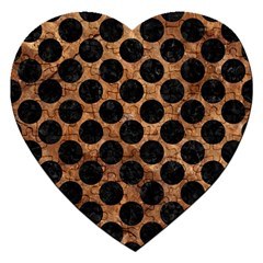 Circles2 Black Marble & Brown Stone (r) Jigsaw Puzzle (heart) by trendistuff