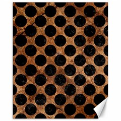Circles2 Black Marble & Brown Stone (r) Canvas 16  X 20  by trendistuff