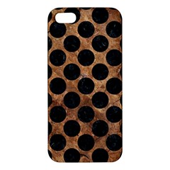 Circles2 Black Marble & Brown Stone (r) Apple Iphone 5 Premium Hardshell Case by trendistuff