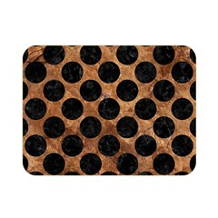 Circles2 Black Marble & Brown Stone (r) Double Sided Flano Blanket (mini) by trendistuff