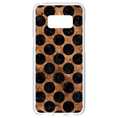 Circles2 Black Marble & Brown Stone (r) Samsung Galaxy S8 White Seamless Case by trendistuff
