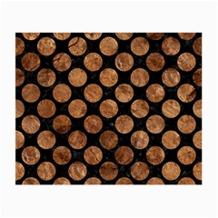 Circles2 Black Marble & Brown Stone Small Glasses Cloth (2 Sides) by trendistuff