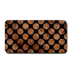 Circles2 Black Marble & Brown Stone Medium Bar Mat by trendistuff