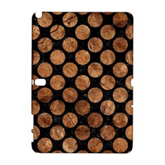 Circles2 Black Marble & Brown Stone Samsung Galaxy Note 10 1 (p600) Hardshell Case by trendistuff