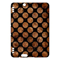 Circles2 Black Marble & Brown Stone Kindle Fire Hdx Hardshell Case by trendistuff
