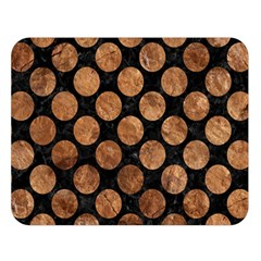 Circles2 Black Marble & Brown Stone Double Sided Flano Blanket (large) by trendistuff