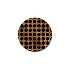 Circles1 Black Marble & Brown Stone (r) Golf Ball Marker (10 Pack)